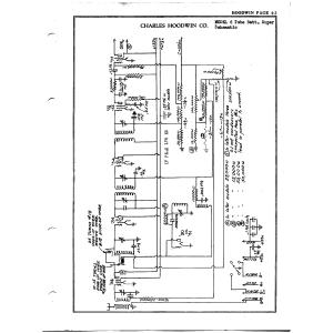 Charles Hoodwin Co. 6 Tube Batt. Super