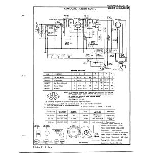 Concord Radio Corp. 6C51W