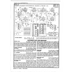 Continental Radio & Television Corp. 11A