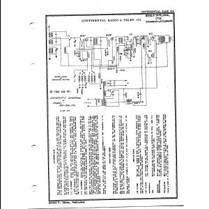 Continental Radio & Television Corp. 137X