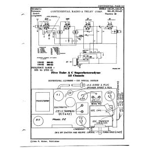 Continental Radio & Television Corp. 150-5Z
