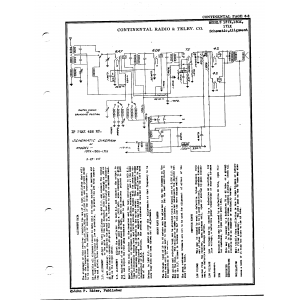 Continental Radio & Television Corp. 150X