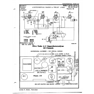 Continental Radio & Television Corp. 155-5Z