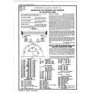 Continental Radio & Television Corp. 16S