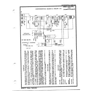 Continental Radio & Television Corp. 171X