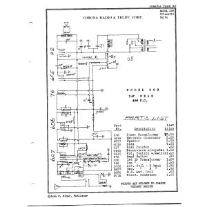 Corona Radio & Telev. Corp. 209