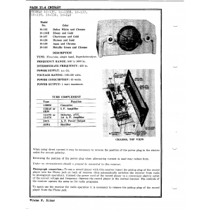 Crosley Corp. 10-135