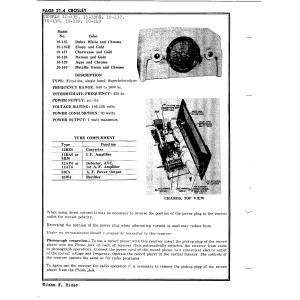 Crosley Corp. 10-136E