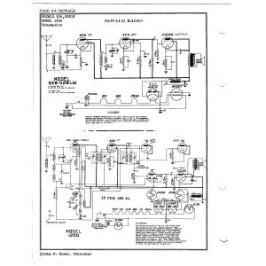 DeWald Radio Mfg. Corp. 1200