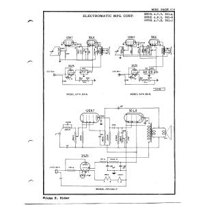 Electromatic Mfg. Corp. A.P.H. 301-B