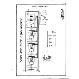 Federal Radio Corp. 68-060 Type E