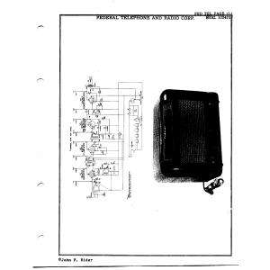 Federal Telephone and Radio Corp. 1024TB