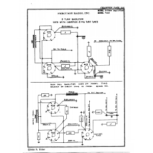 Ferguson Radio, Inc. 3-Tube Amplifier