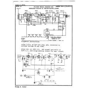 Flush Wall Radio Co. 1B5T-1