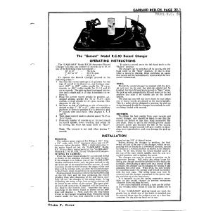Garrard Eng. & Mfg. Co. Ltd. R.C. 80