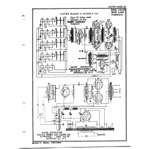 Gates Radio & Supply Co. 105-CR