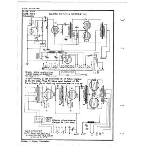 Gates Radio & Supply Co. 500-A