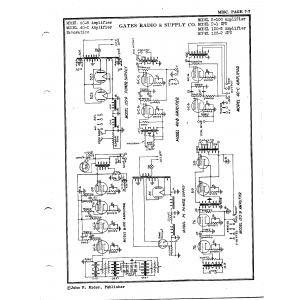 Gates Radio & Supply Co. B-100 Amplifier
