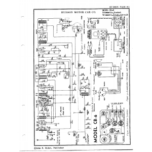 Hudson Motor Car Co. CB-6