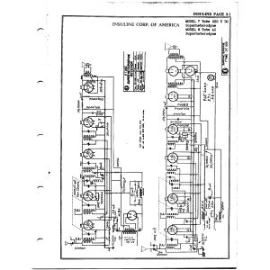 Insuline Corp. of America 7 Tube 220 V. D.C.