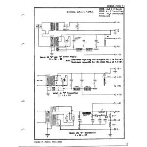 Kodel Radio Corp. 161, B Transifier