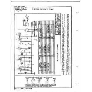 L. Tatro Products Corp. B-525