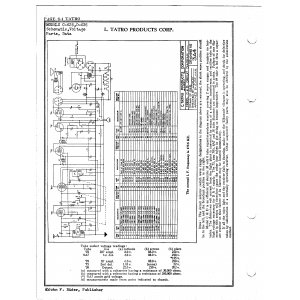 L. Tatro Products Corp. C-625