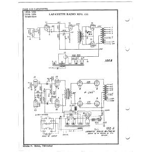 Lafayette Radio Mfg. Co. 100A