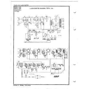 Lafayette Radio Mfg. Co. 158P