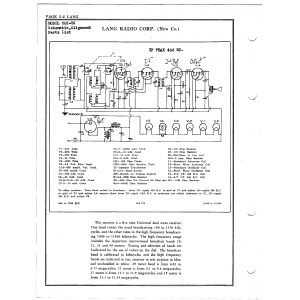 Lang Radio Co. 502-US
