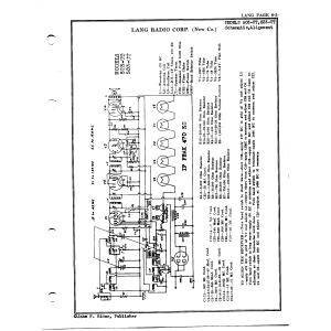 Lang Radio Co. 503-UT