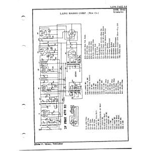 Lang Radio Co. 60-AA