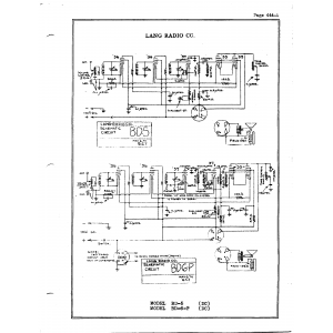 Lang Radio Co. BD-6-P