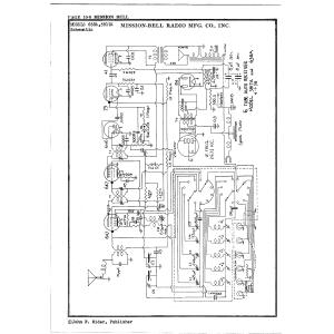 Mission Bell Radio Mfg. Co. Inc. 3817A