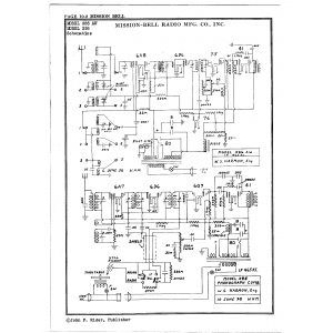 Mission Bell Radio Mfg. Co. Inc. 386AW