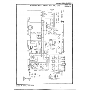Mission Bell Radio Mfg. Co. Inc. 3871