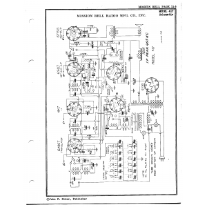 Mission Bell Radio Mfg. Co. Inc. 417