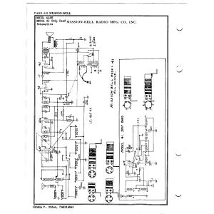 Mission Bell Radio Mfg. Co. Inc. 41AW