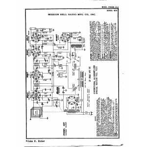 Mission Bell Radio Mfg. Co. Inc. 423