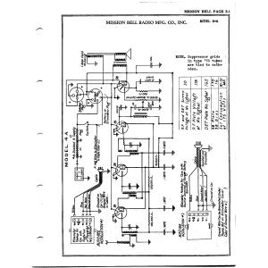 Mission Bell Radio Mfg. Co. Inc. 4-A