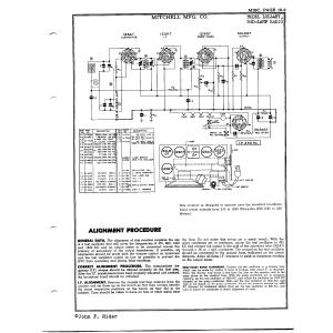 Mitchell Mfg. Co. Bed-lamp Radio