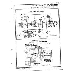 Monarch Mfg. Co. A-W, Signal Generator