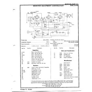 Monitor Equipment Corp. M-403
