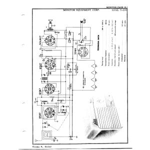 Monitor Equipment Corp. M-500