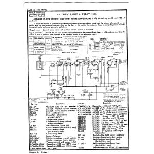 Olympic Radio & Television, Inc. 6-501V-U