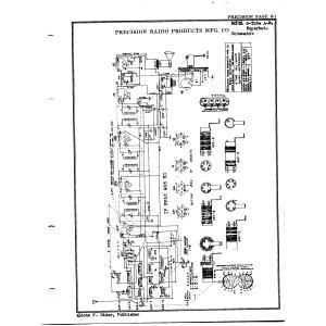 Precision Radio Products Mfg. Co. 6 Tube A-W Superhot