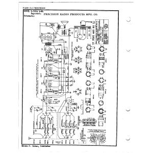 Precision Radio Products Mfg. Co. 8 Tube A-W Superhot