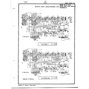Radio Mfg. Engineers, Inc. 69 AC, Late Revised
