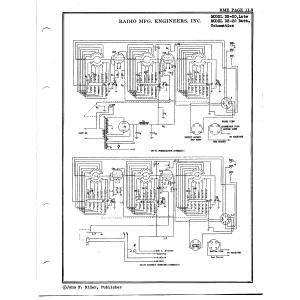Radio Mfg. Engineers, Inc. DB-20, Late