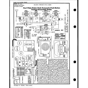 Radio Products Corp. 55 Auto